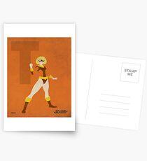 Terra - Superhero Minimalist Alphabet Print Art Postcards
