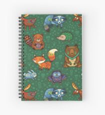Woodland animals Spiral Notebook
