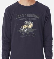 Every Mile Tells a Story - grey print Lightweight Sweatshirt
