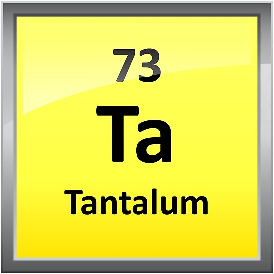 Tantalum Periodic Table Element Symbol Posters By Sciencenotes