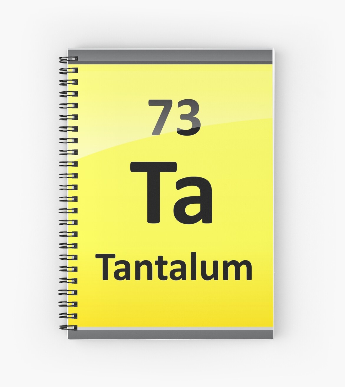 Tantalum Periodic Table Element Symbol Spiral Notebooks By