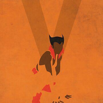 Vixen - Superhero Minimalist Alphabet Print Art by justicedefender
