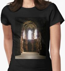 Dove, Conwy Castle. Womens Fitted T-Shirt