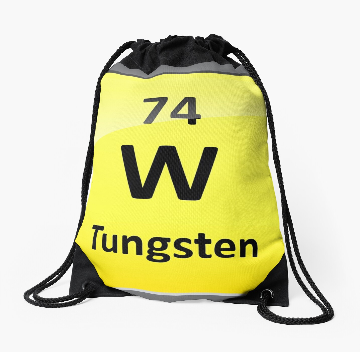 Tungsten Periodic Table Element Symbol Drawstring Bags By