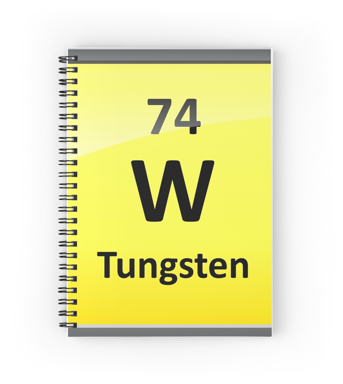 Tungsten periodic table element symbol spiral notebooks by tungsten periodic table element symbol by sciencenotes urtaz Gallery