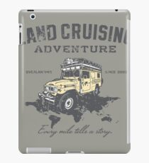 Every Mile Tells a Story - grey print iPad Case/Skin