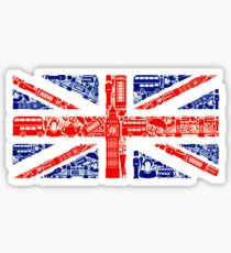 Landmark and Flag A Sticker