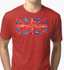Landmark and Flag A Tri-blend T-Shirt