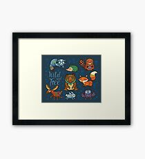 Woodland annimals Framed Print