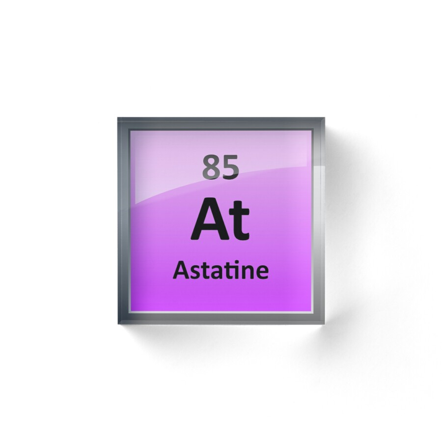 Astatine periodic table element symbol acrylic blocks by astatine periodic table element symbol by sciencenotes gamestrikefo Image collections