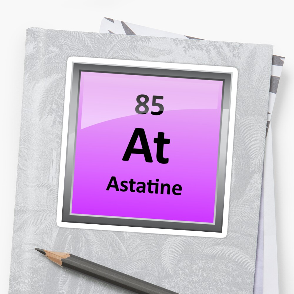 Astatine periodic table element symbol stickers by sciencenotes astatine periodic table element symbol by sciencenotes urtaz Gallery