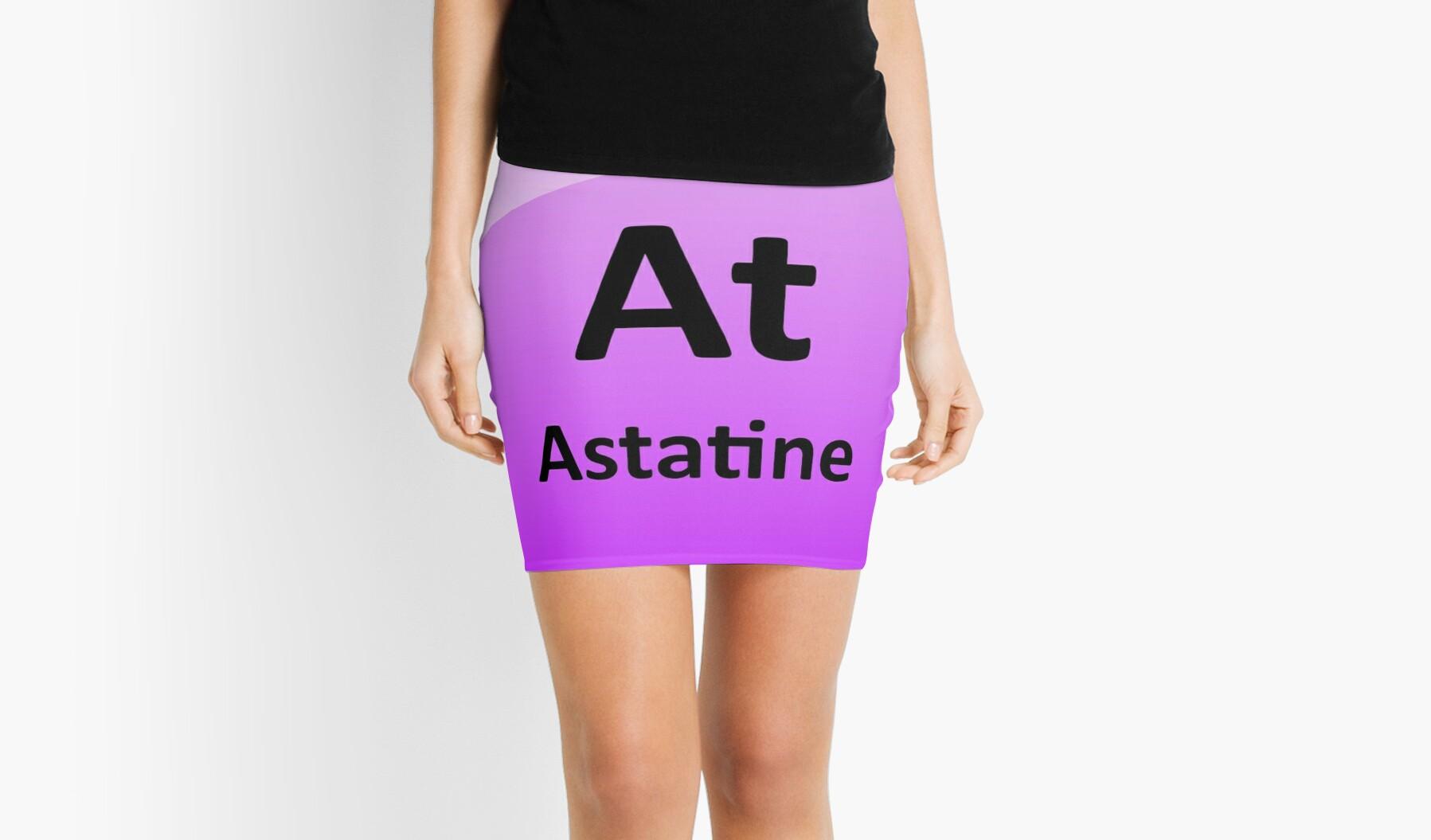 Astatine periodic table element symbol mini skirts by astatine periodic table element symbol gamestrikefo Image collections