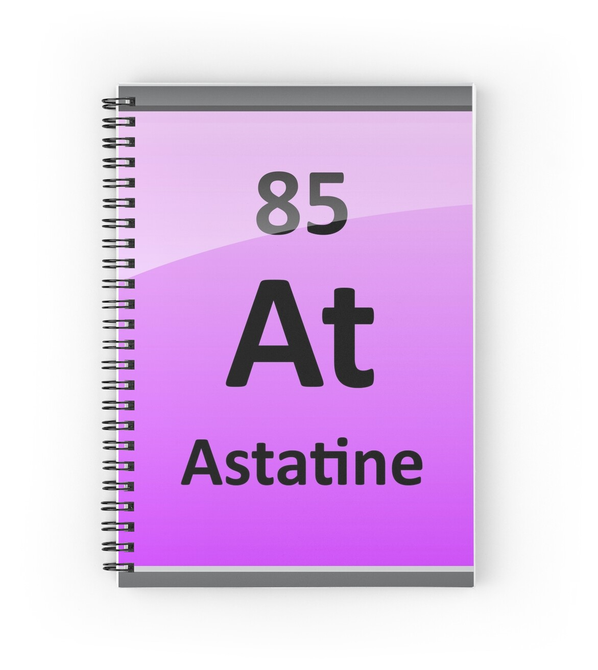 Astatine periodic table element symbol spiral notebooks by astatine periodic table element symbol by sciencenotes gamestrikefo Gallery