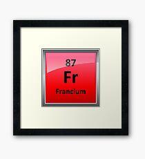 Francium Periodic Table Element Symbol Framed Print