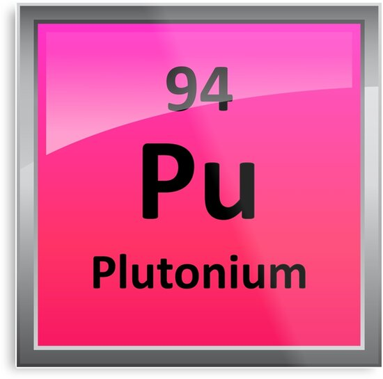 Plutonium Periodic Table Element Symbol Metal Prints By