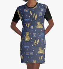 Kenyan Leopard Graphic T-Shirt Dress