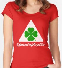 Quadrifoglio Alfa Fill Graphic Print Women's Fitted Scoop T-Shirt