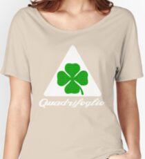 Quadrifoglio Alfa Fill Graphic Print Women's Relaxed Fit T-Shirt