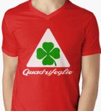 Quadrifoglio Alfa Fill Graphic Print Men's V-Neck T-Shirt