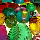 Coloured Resin Beads Design 7 by noworrybeads