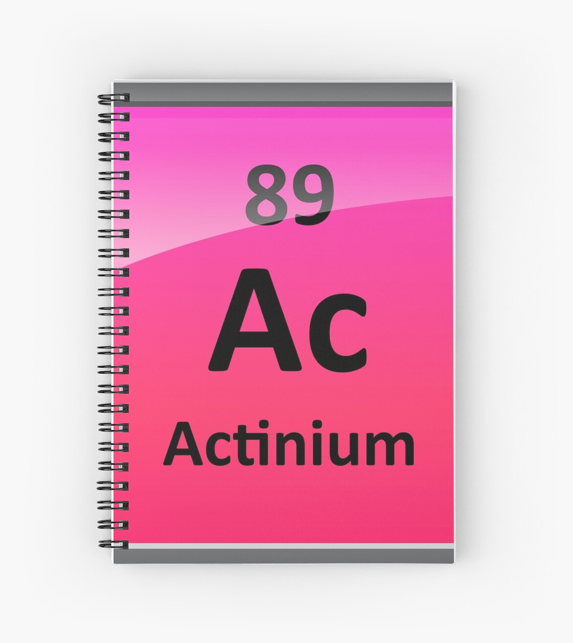 Actinium Periodic Table Element Symbol Spiral Notebooks By