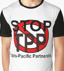 STOP TPP - TRANS-PAZIFISCHE PARTNERSCHAFT Grafik T-Shirt