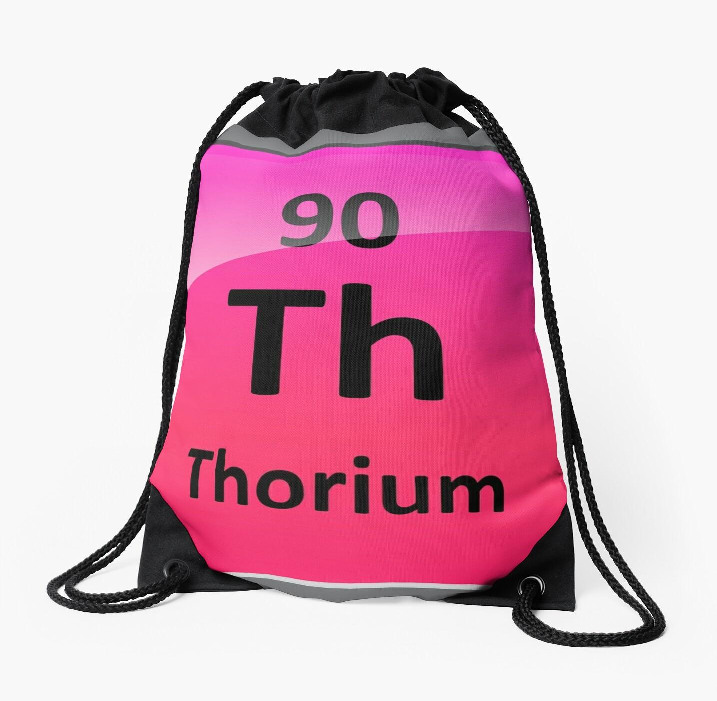 Thorium Periodic Table Element Symbol Drawstring Bags By