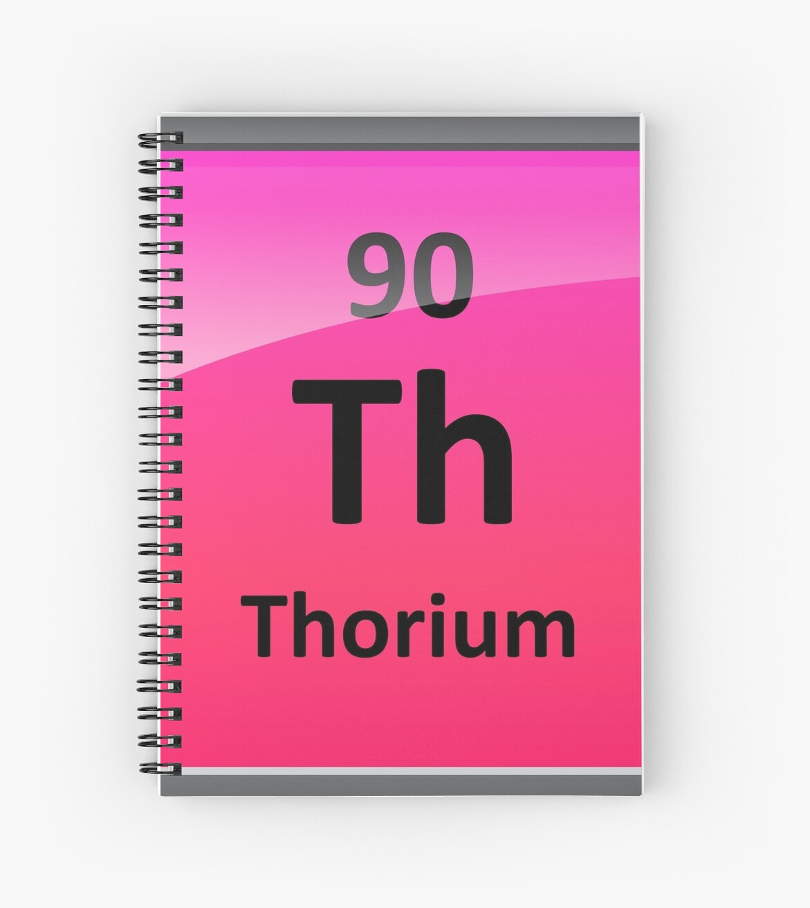 Thorium Periodic Table Element Symbol Spiral Notebooks By