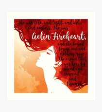 Aelin Fireheart Quote Art Print