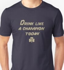 Drink Like a Champion - South Bend Style Dark Blue Slim Fit T-Shirt