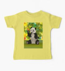 3D Rendering Panda Bear Baby Tee