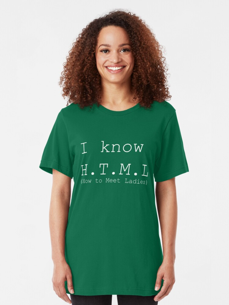 Alternate view of I Know HTML Slim Fit T-Shirt