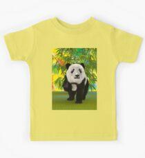 3D Rendering Panda Bear Kids Tee