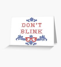 Don't Blink Cross-Stitch Greeting Card