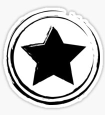 Vintage Star black Sticker