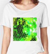 Funky Green Disco Ball Women's Relaxed Fit T-Shirt