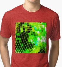 Funky Green Disco Ball Tri-blend T-Shirt