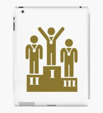 Podium champion medal iPad Case/Skin