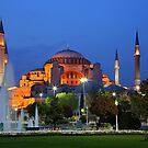 Blue hour in Hagia Sophia by Hercules Milas
