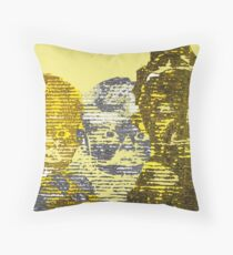 Corrugated Cardboard Portraits  Throw Pillow