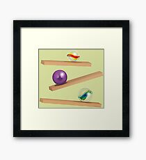 Classic Game - Cristal Marbles Framed Print