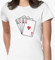 Poker aces gambling Womens Fitted T-Shirt