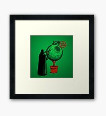 Job Or No Job - Darth Vader Space Planet Framed Print