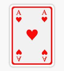 Poker ace heart Sticker
