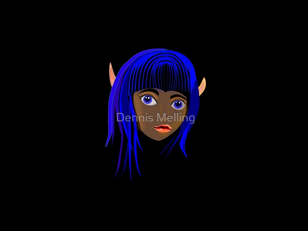 Fairy Bluehair by Dennis Melling