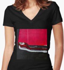 vintage car aquarell Women's Fitted V-Neck T-Shirt