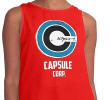 capsule corp saiyan logo Contrast Tank