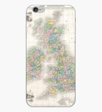 Vintage Map of The British Isles (1878) iPhone Case