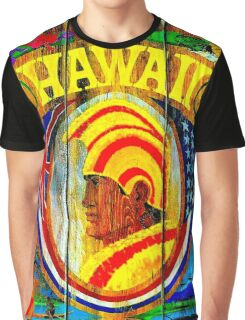 """UNITED AIR LINES"" Fly to Hawaii Print Graphic T-Shirt"