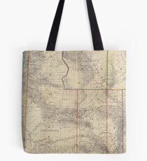 Vintage Map of Wyoming (1883) Tote Bag